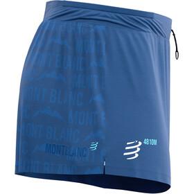 Compressport Racing Split Overshorts Mont Blanc 2021 Men blue